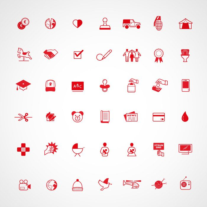 Silo - Save the Children icons www.silodesign.nl
