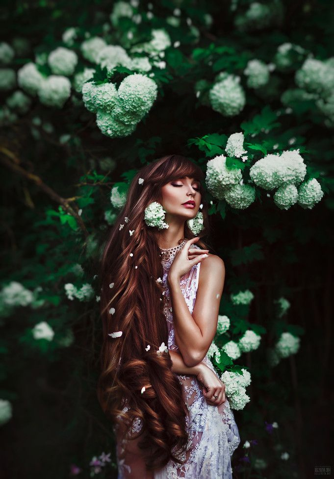 Flower Maiden Fantasy Beautiful Art Fashion Photography Of