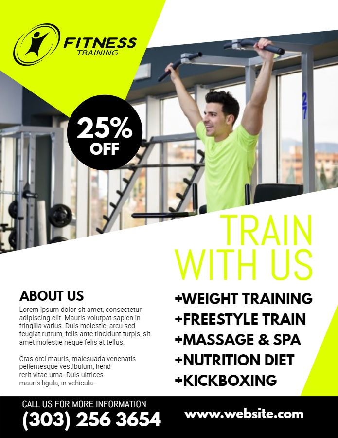 Fitness Flyer Template Or Social Media Post.