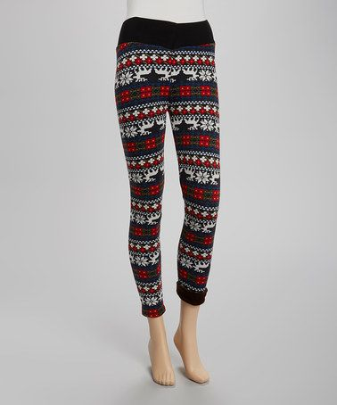 Take a look at this Red & Green Stripe Leggings - Women by r.bryant on #zulily today!
