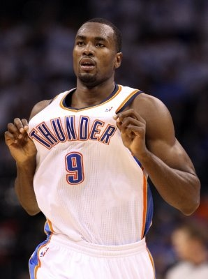 Serge Ibaka showed some surprising offensive prowess as he scored a career-high 26 points in the Thunder's Game 4 victory over the Spurs.