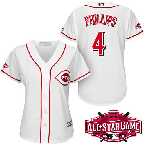 cincinnati reds womens brandon phillips cool base® player jersey with all star 2015 patch