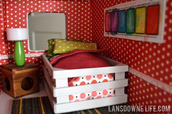 DIY Dollhouse: Bedroom furniture (Part 5 of 6) at LansdowneLife.com