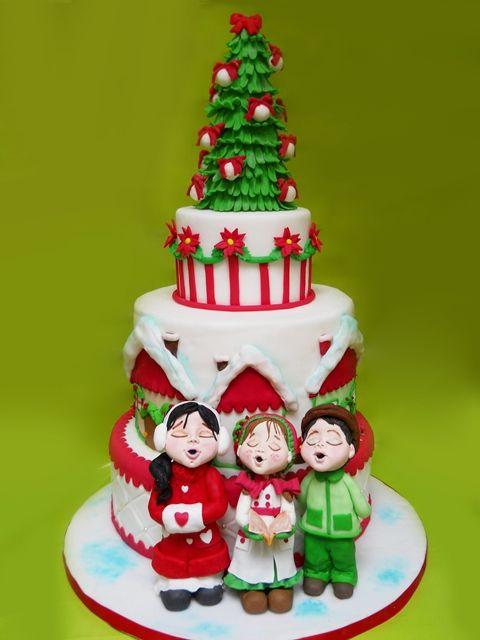 Come realizzare un albero di Natale in pasta di zucchero