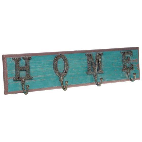 Inart Κρεμάστρα τοίχου ξύλινη 4 θέσεων 3-70-898-0051
