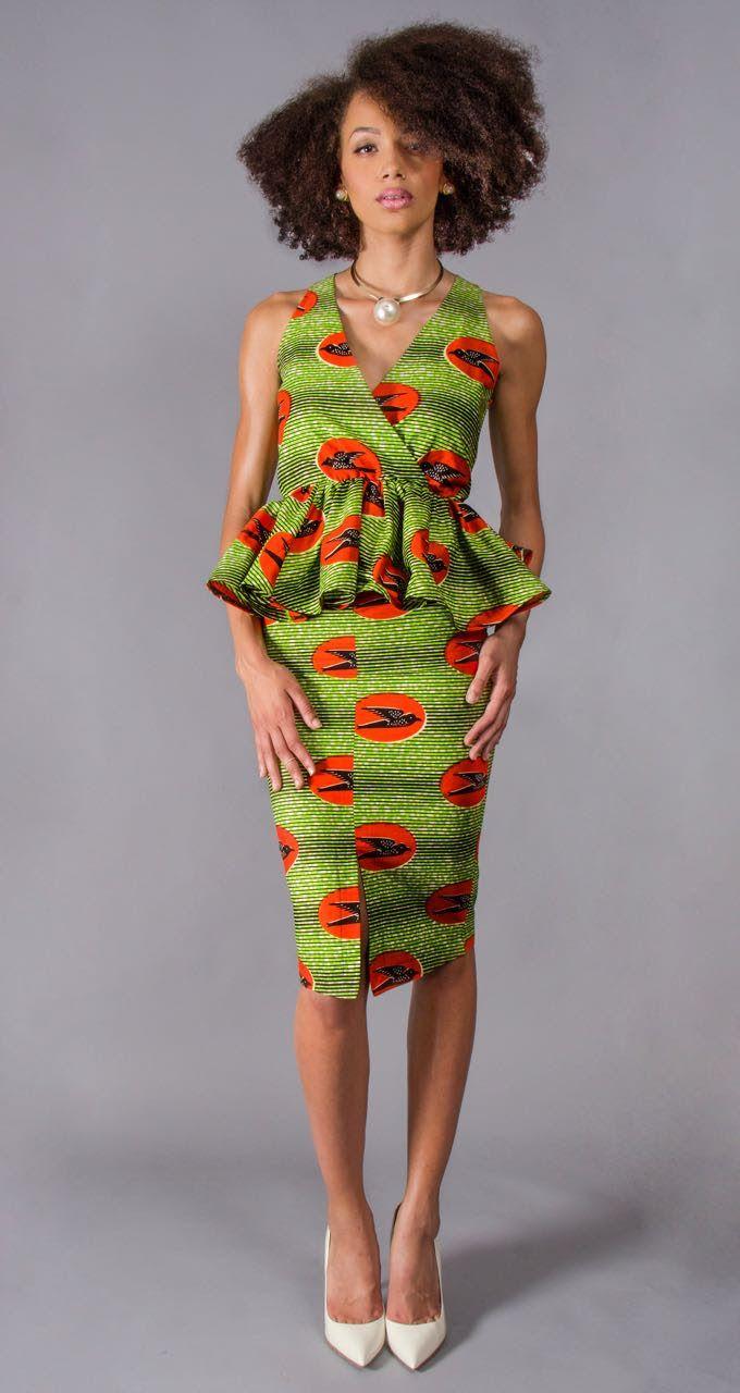 African Print Senegal Midi Dress: ~African Fashion, Ankara, Kitenge, Kente, African Prints