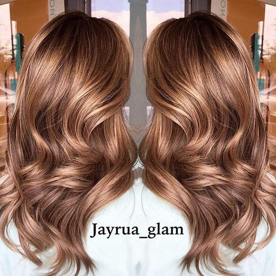Light brown/red hair color.