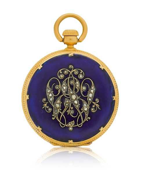 Patek Philippe, rare early pocket watch, ca. 1850.
