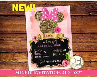 Minnie Mouse Invitation, minnie mouse, minnie mouse party, minnie mouse birthday, minnie mouse printable, minnie invitation, minnie birthday