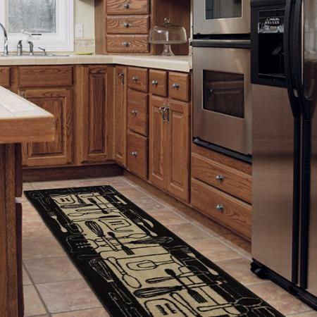 Add Some Style And Protection To Your Floors With This Mohawk Home Utensils Kitchen Floor Rug