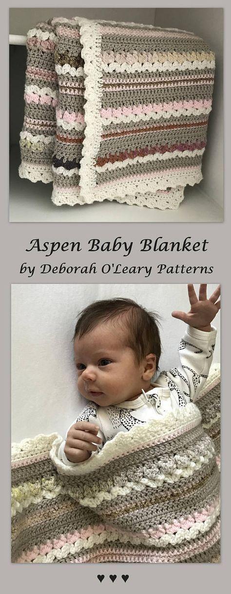Crochet Baby Blanket Pattern Aspen Blanket Woodland Baby