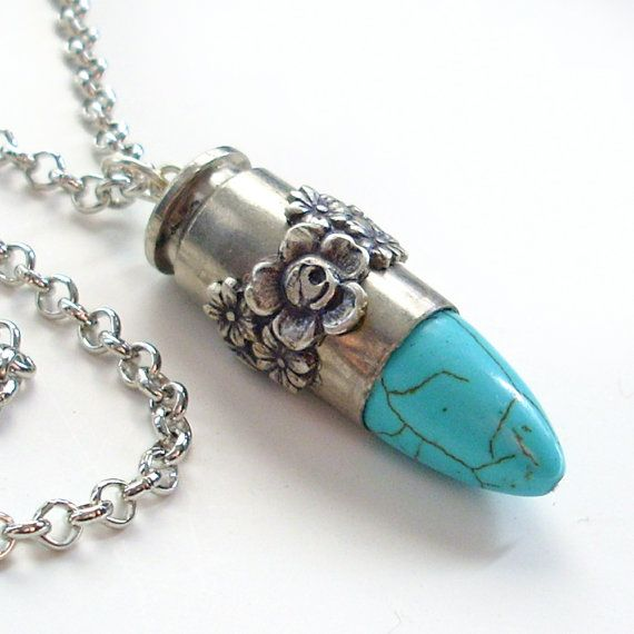 Upcycled Bullet Necklace Cowgirl Jewelry  by TrashAndTrinkets, $38.00