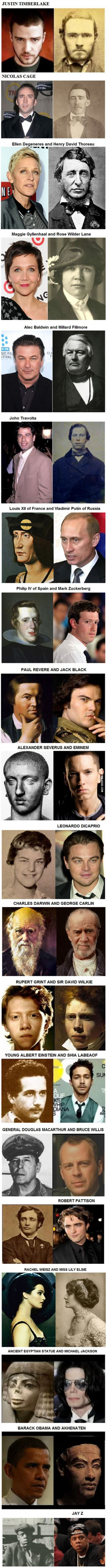 20 Celebrities And Their Historical Doppelgangers...that's just creepy (and awesome, at the same time)!!!