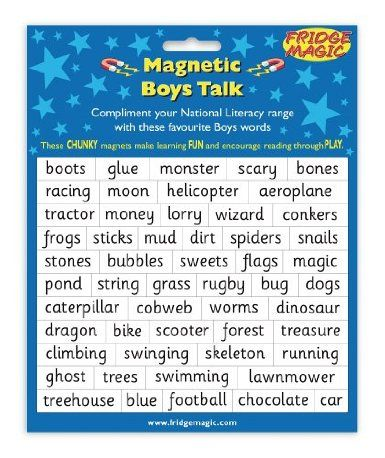 Magnetic Boys Talk Words to complement National Literacy Words: Amazon.co.uk: Toys & Games