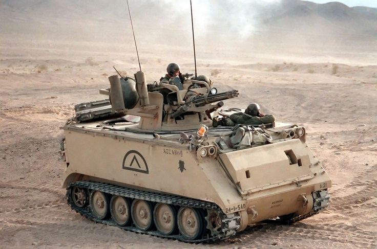 The M61 mounted on a US Army M163 armored vehicle