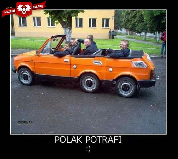 """A 6-seat Fiat 126P (""""Maluch"""")."""