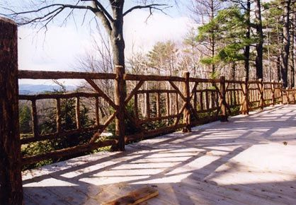 Rustic Deck Railing Ideas Rustic Garden Fencing Wood