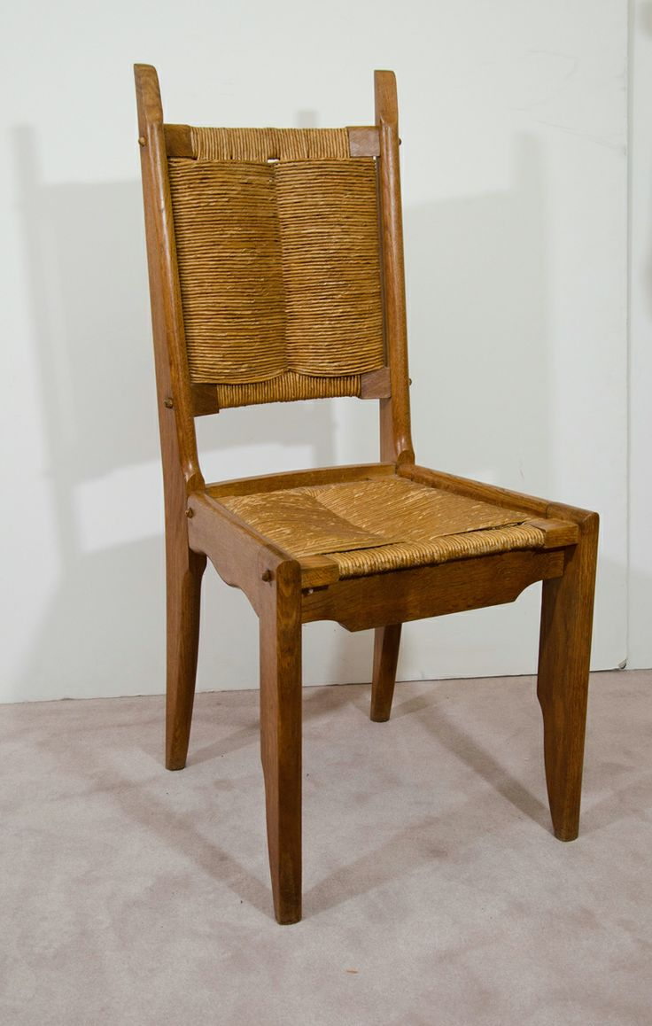 Rare set of twelve victorian solid oak leather antique chairs empire - A Mid Century Set Of Four Guillerme Chambron Chairs