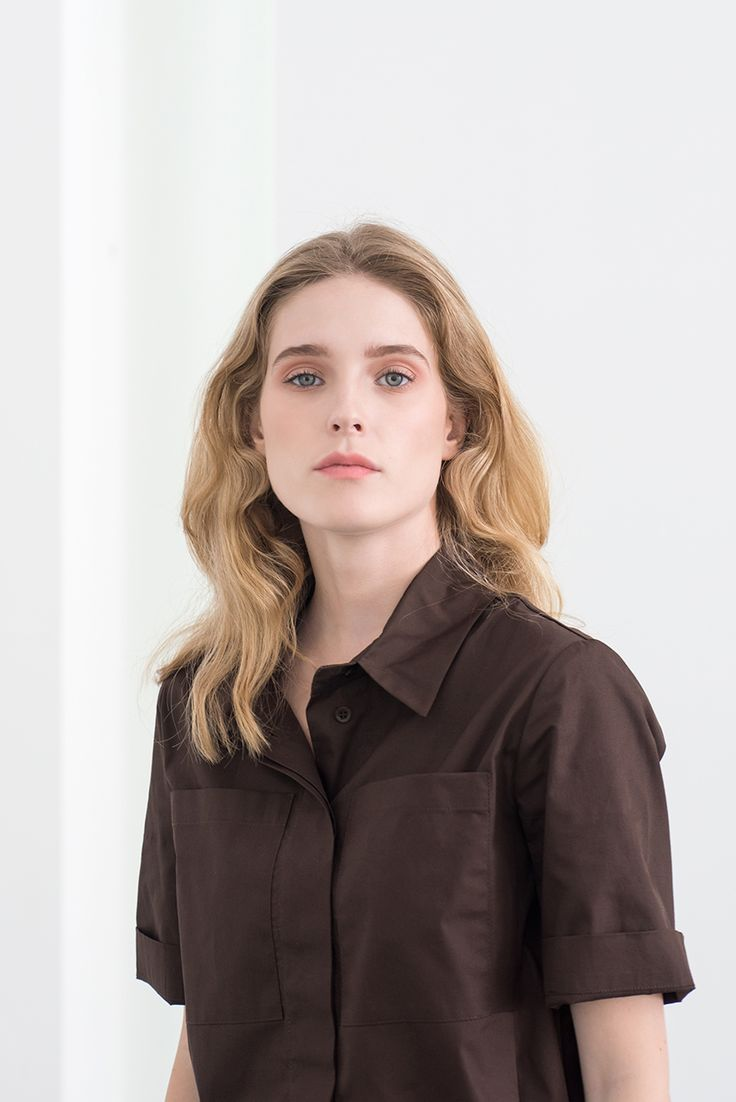 brown MONOCLINE blouse by Magpie Goose / SS15