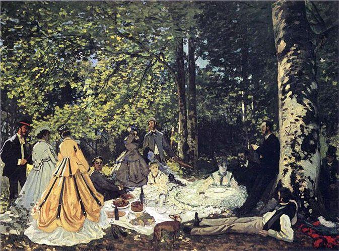 Клод Моне. «Завтрак на траве». 1865 г.