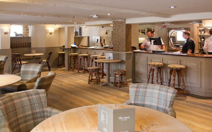 Refurbishment of country pub by MBD Interiors, Ralph Lauren print wallpaper - love it!