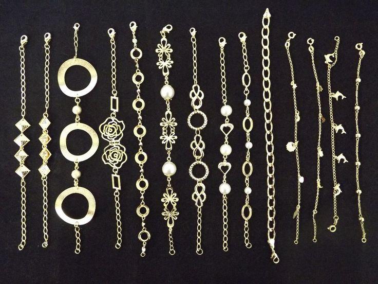 Kit 25 Pulseiras Folheado Ouro 18k Direto Da Fabrica Atacado  http://produto.mercadolivre.com.br/MLB-877488675-kit-25-pulseiras-folheado-ouro-18k-direto-da-fabrica-atacado-_JM