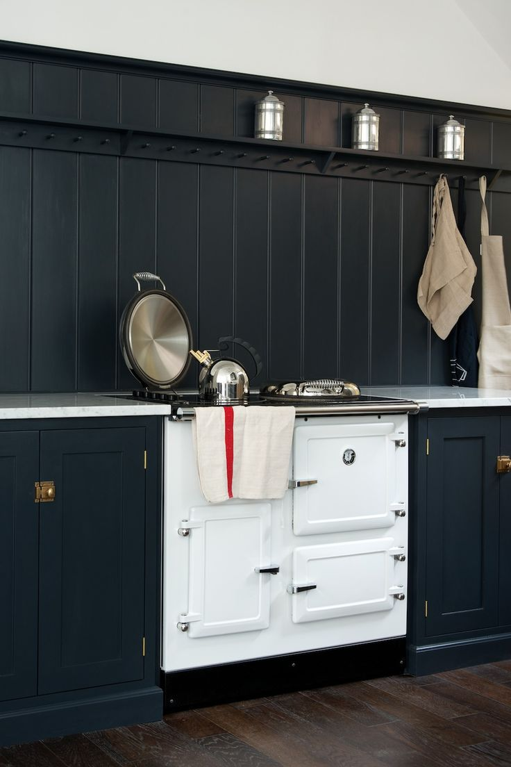 The beautiful white Esse Range cooker in deVOL's new London showroom