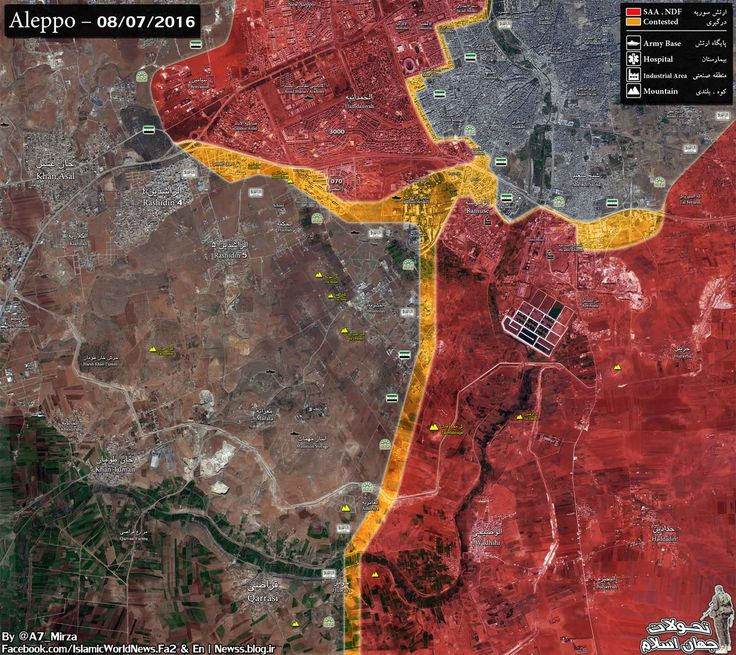Map Update S #Aleppo: - Siege approximately lifted - New defense lines formed @ N&S of the break