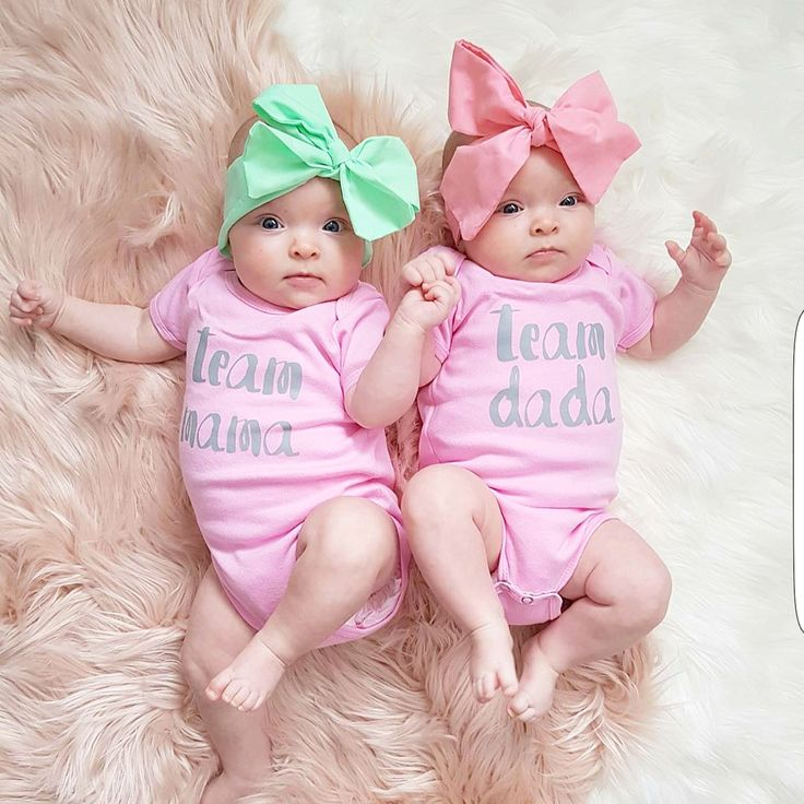 Team Mama & Team Dada // Baby Onesie - Little Beans Clothing. Baby girl clothes, hipster baby, twin onesies, graphic onesies.