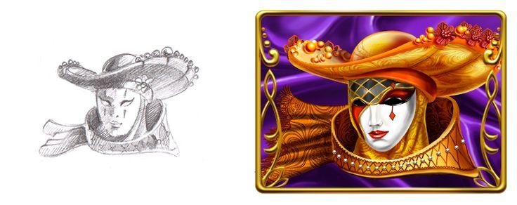 "Graphic design of symbol for the game slot machine ""Venezsia"" http://artforgame.com"