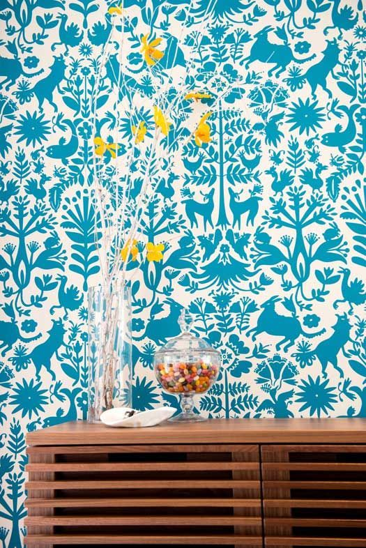 Wallpaper - a bit like my favourite designer Tord Boontje