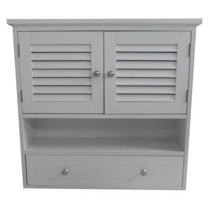 65 00 Linwood Bath Shutter Wall Cabinet White Target