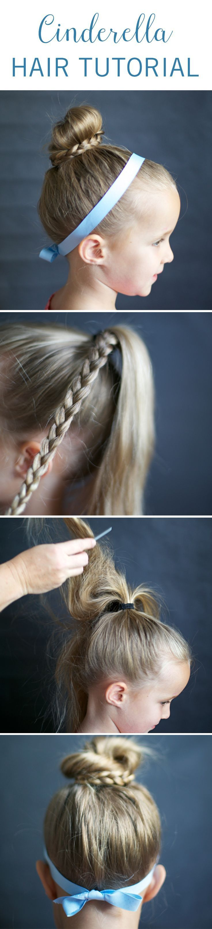 Give your little princess the royal treatment with the help of this Cinderella hair tutorial. It's the perfect hairstyle to pair with a Halloween costume, a tea party, or just an extra styled look for school. #Disney