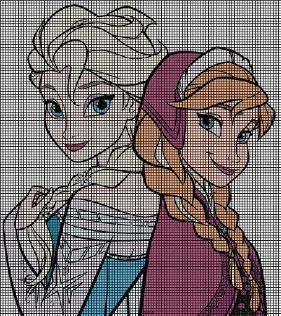 Elsa & Anna Portrait Crochet Pattern