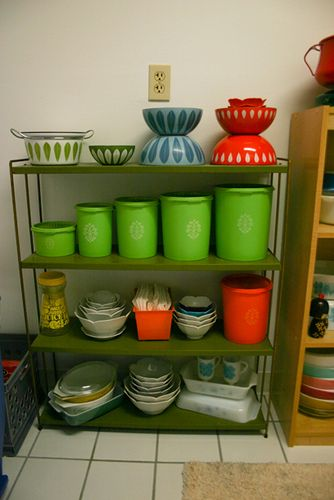 Pyrex, Cathrineholm, Tupperware and Lotus Bowls! by Jeni Baker, via Flickr  OMG I was so into Pyrex and Tupperware.  Tupperware parties were a social event!