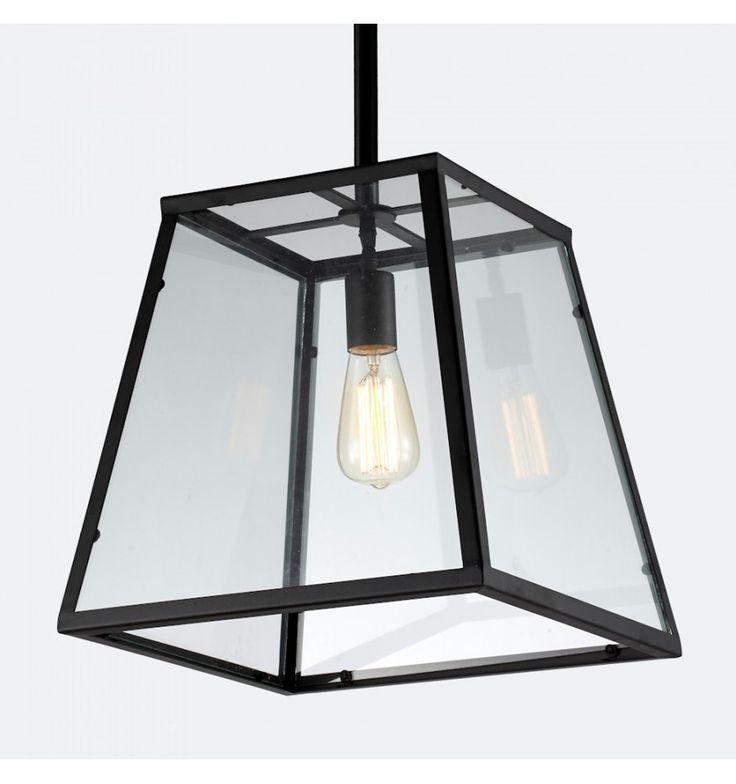 Industriële Hanglamp met Lantaarn in Glas - Fresy