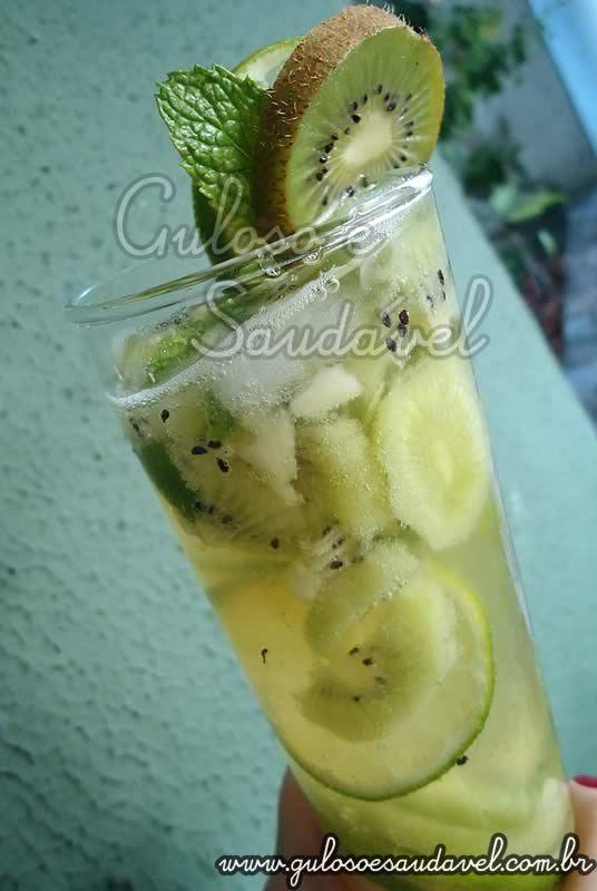 Receita de Drink de Kiwi e Limão sem Álcool