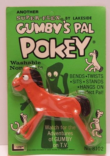 My Pokey's leg wire poked out of the rubber so Daddy wrapped all his ankles with electical tap and told me he was a race horse! original 1960's Pokey by Lakeside Toys