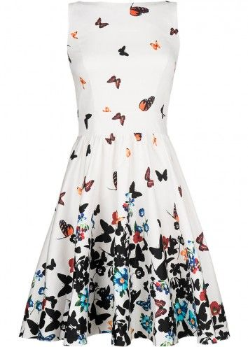 Succubus Exlusief: Lady V Sweet White Butterfly Tea Dress Jurk Wit