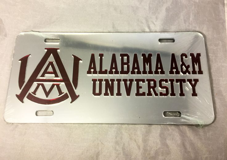 Alabama A&M University License Plate- Style 4 - Brothers and Sisters' Greek Store