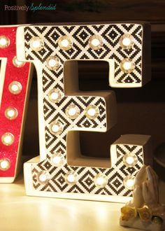 The EASIEST way to make DIY marquee letters! #MichaelsMakers                                                                                                                                                                                 More