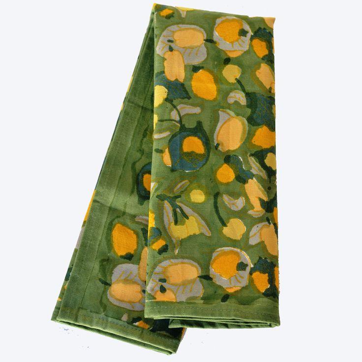 Fruit Yellow Green Tea Towel