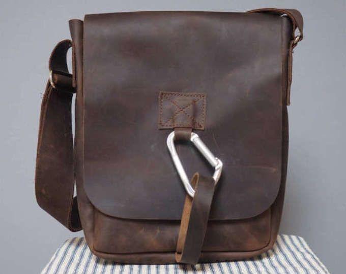 Homme manbag, sac en cuir, sac, sac en cuir pour homme, mans sac, sac en cuir portrait, sacoche en cuir pour homme, sac besace, sac de messager, mousqueton