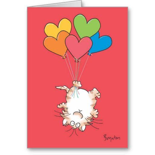 UPSIDE-DOWN CAT Valentines by Boynton Card