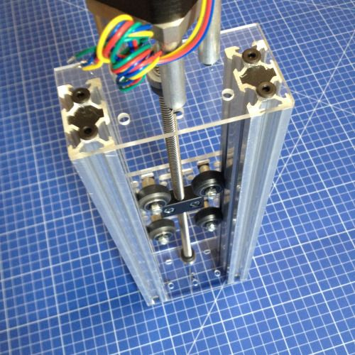 Prototype plates for a V-Slot linear actuator. Can mount either a NEMA17 or NEMA23 stepper motor. The gantry is a 100mm wide V-Slot gantry plate.