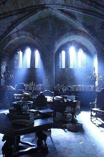 Blue Light Ravenclaw Common Room Hp Aesthetic