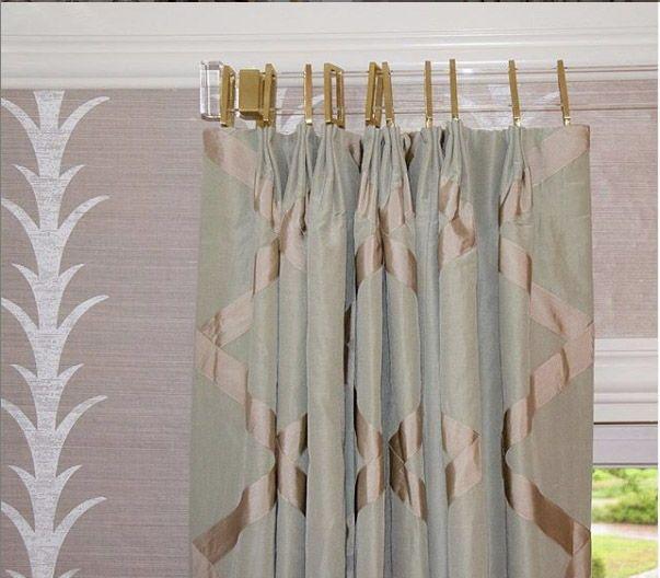Lucite Rectangular Curtain Rod Polished Brass Satin Brass Or