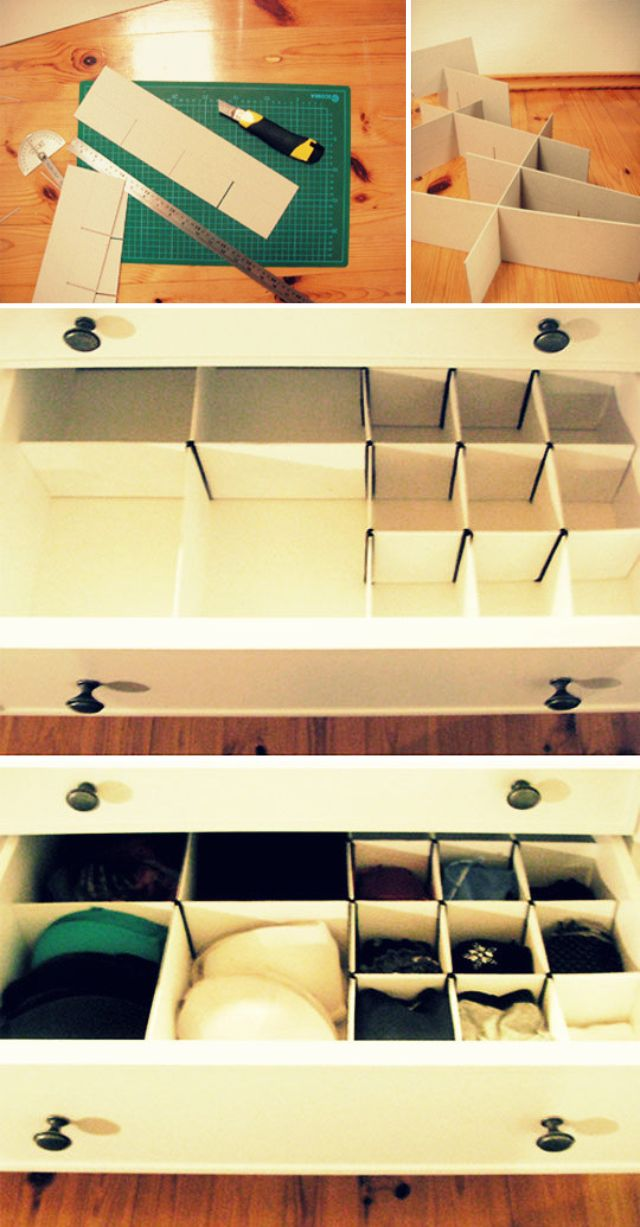 DIY Sock Drawer Organizer