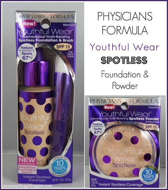 Nouveau Cheap: Review: Physicians Formula Youthful Wear Spotless Foundation & Powder
