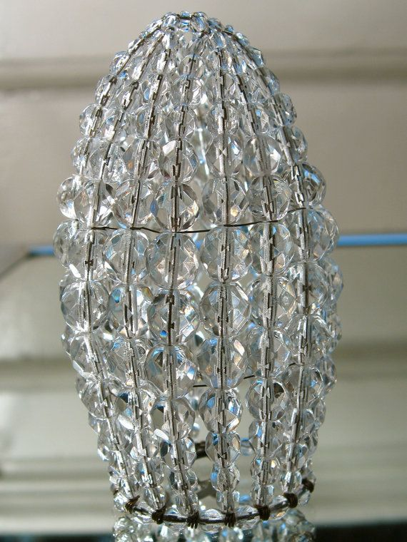 New Beaded Bulb Cover Looks Antique Without The Endless Searching General Disrepair Bronze Chandelierchandelier Shadeslamp